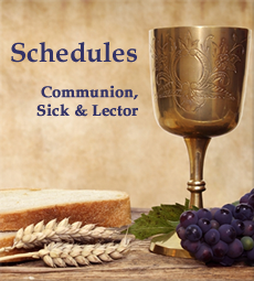 communion schedule